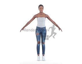 Alison 001 Woman standing 3D model