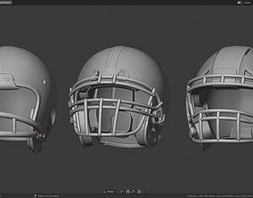3D model Various Football Helmets