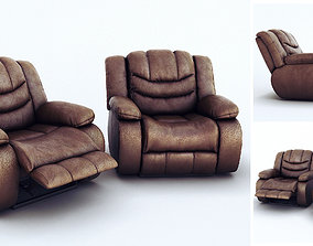 Ashley Revolution Burgundy Two Armchairs 3D