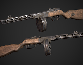 3D model game-ready PPSH-41