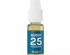 CBD oil Bottle 3D model
