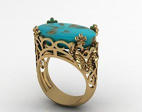 3D print model lace butterfly ring