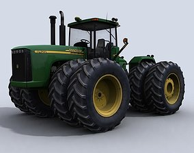 3D asset 4WD Tractor