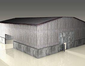 exterior 3D asset low-poly Hangar