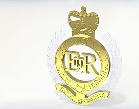 3D model Royal Engineers Badge