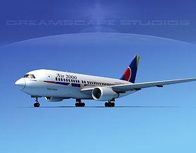 Boeing 767-100 Air 2000 3D model