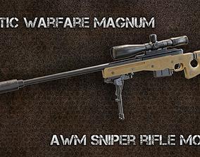 Arctic Warfare Magnum AWP L96A1 3D asset
