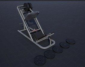 3D model Leg Press Hack Squat
