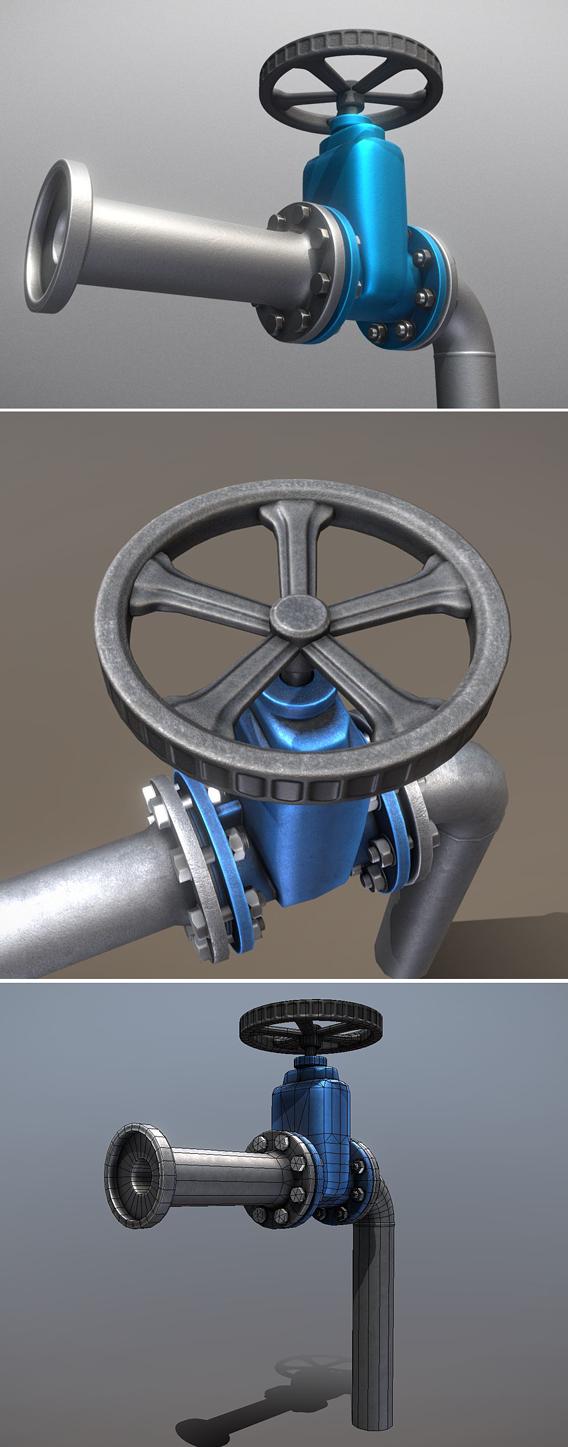 Pipe with Valve Wheel