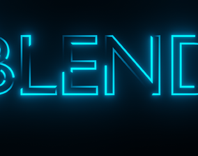 3D asset Looped Text Animation - made in