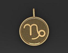 Zodiac Sign Capricorn Pendant 3D printable model