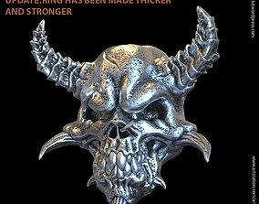 3D print model Demon skull vol1 biker ring