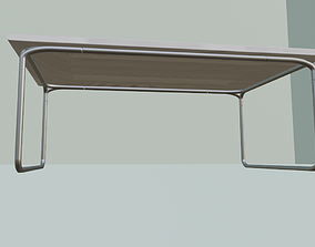 Table Square 3D Model VR / AR ready