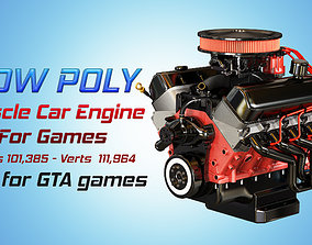 Muscle Car Engine - V8 Muscle Engine Two 3D asset