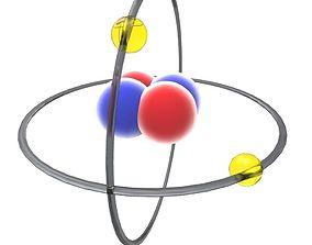 Atoms 3D model low-poly
