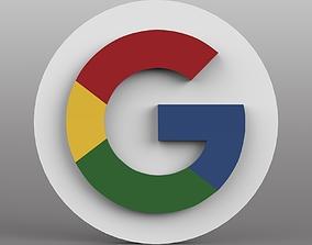 Google Logo 3D asset