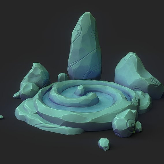 Low-poly Stone Pool