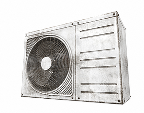unit 3D Air conditioner outdoor 3b