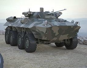 3D asset Armoured Transporter BTR 90 RIGGED