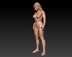 3D print model muscle woman