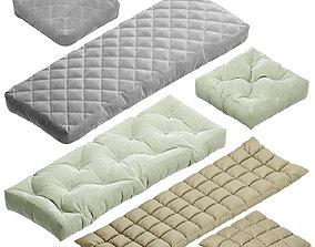 Seat pillow set 5 3D