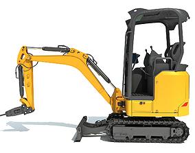 Mini Excavator Breaker Hammer 3D model