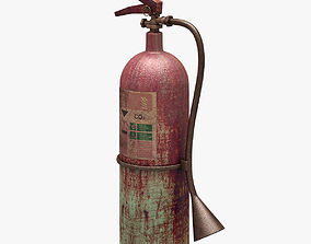 3D asset realtime Fire Extinguisher Dirty