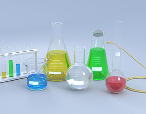 Chemical Laboratory Glassware Set 3D