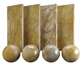 Orange Siena Marble Texture PBR Vray Corona 400 3D asset 2