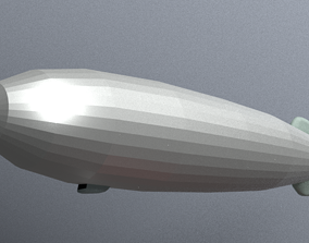 3D model VR / AR ready Airship