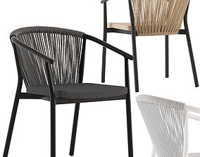 Coco Republic Marco Stackable Outdoor Dining 3D model