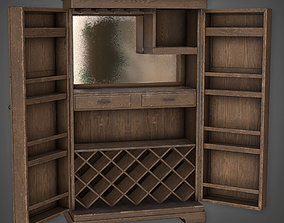 3D model DVB - Large Liquor Cabinet - PBR Game Ready