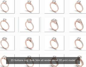1000 engagement wedding solitaire ring bulk 3D model