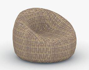 3D asset 0644 - Bean Bag Armchair