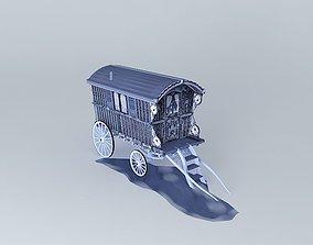 HALLOWEEN Gypsy Wagon 3D model