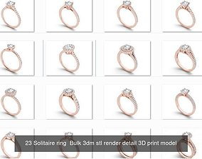 2000 Solitaire ring 3dm 1 render detail bulk