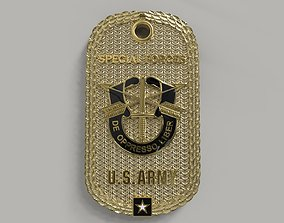 Army Dog Tag Special Forces 3D print model