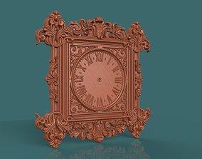 wallclock Wall clock 3d stl model for cnc