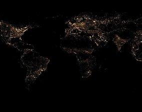3D 86k Earth Nightlight Map