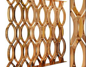 Decorative partition set 55 3D model