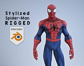 3D Stylized Spiderman rigged