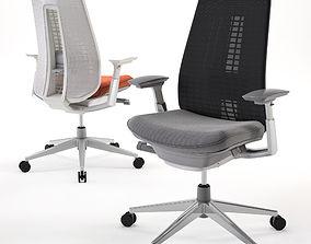 3D model office Desk chair HAWORTH Fern