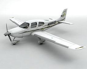3D asset Cirrus SR-22 Aircraft
