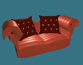 3D model Fabric Sofa furniture