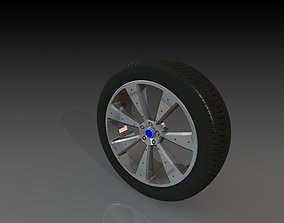 tread Car Wheel Concept 3D
