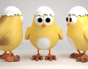 3D model pet Cartoon chicken