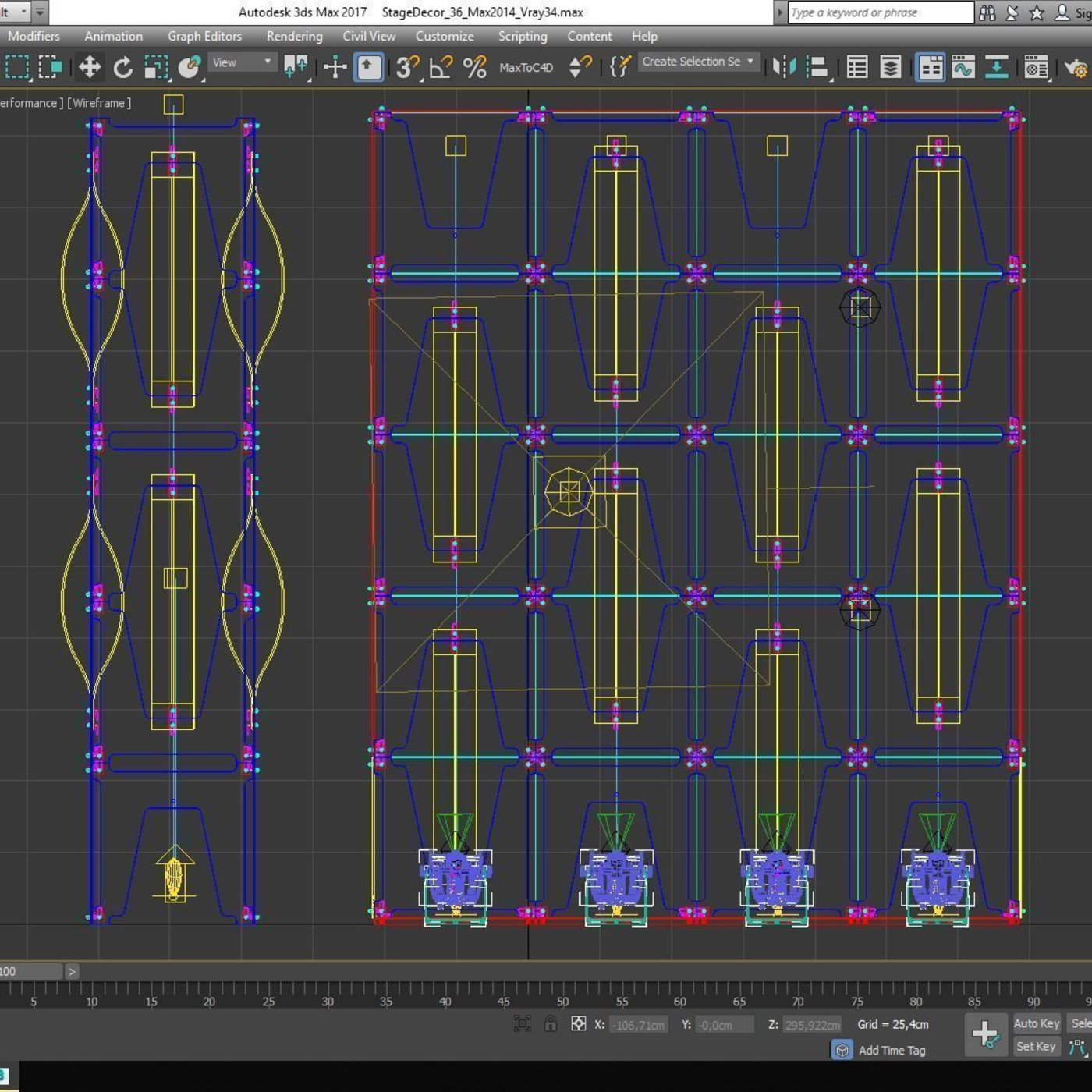 Stage Decor 36 Modular Wall Column