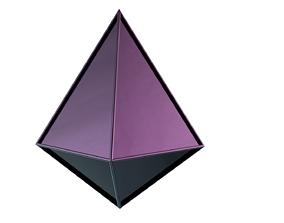 Twitch bits shapes 3D asset