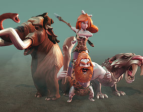 Ice Age Character Pack 3D asset animated