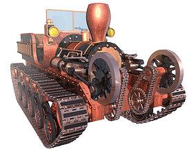 Steam tractor 3D model steam